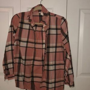 pink/gray/white flannel